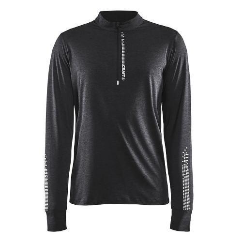 CRAFT クラフト Mind LS Reflective Zip Tee マインド長袖ジップTシャツ 1905500 メンズ ブラックメランジ<店頭在庫限り>