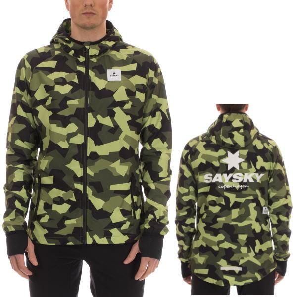 SAYSKY セイスカイ ランニングジャケット Wellington Jacket 6MRJA1 Green Splinter Camo<店頭在庫限り>