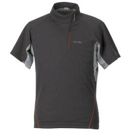 airista エアリスタ minimalist Zip-up T ミニマリスト ジップアップTシャツ 半袖 5915403 メンズ Dグレー<店頭在庫限り>