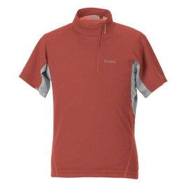 airista エアリスタ minimalist Zip-up T ミニマリスト ジップアップTシャツ 半袖 5915403 メンズ オレンジ<店頭在庫限り>