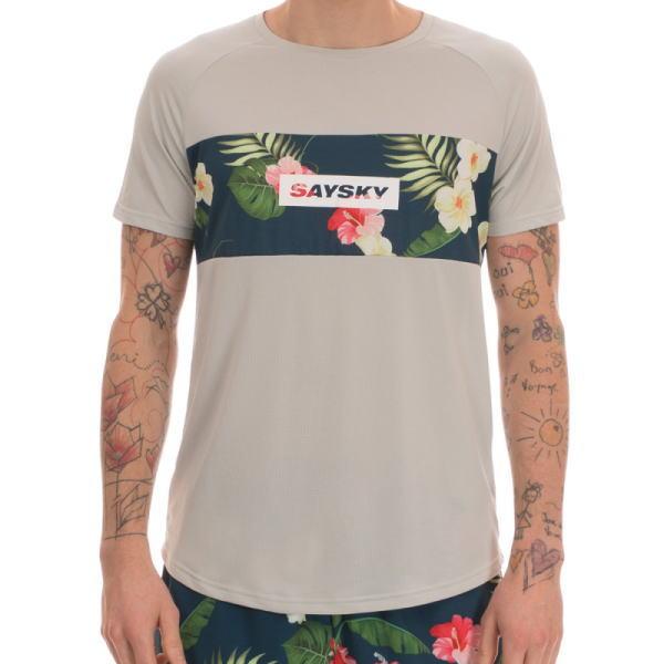 SAYSKY セイスカイ ランニング半袖Tシャツ Tropic SS Tee 6MRSS19 Pearl Blue<店頭在庫限り>