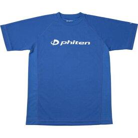 phiten ファイテン RAKUシャツ SPORTS[吸汗速乾] 半袖 ロゴ入リ ロイヤルブルー[ロゴ白] S JG174003