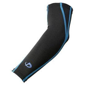 phiten ファイテン アームスリーブ スポーツスリーブ X30 腕用[2枚入] ブラック/ブルー S SL535303