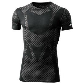 YONEX ヨネックス 着圧コンプレッション Vネック半袖シャツ STBA1016 007 ブラック