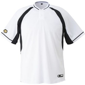 DESCENTE デサント ユニセックス 野球・ソフトボール 2ボタンベースボールシャツ DB-103B SWBK