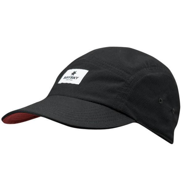 SAYSKY セイスカイ ランニング キャップ 帽子 UNIVERSE REVERSE CAP AMAHA12 BLACK/Red Universe