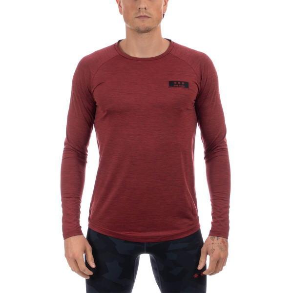 SAYSKY セイスカイ ランニング 長袖Tシャツ SUB ROSA LS TEE AMRLS9 RED MELANGE
