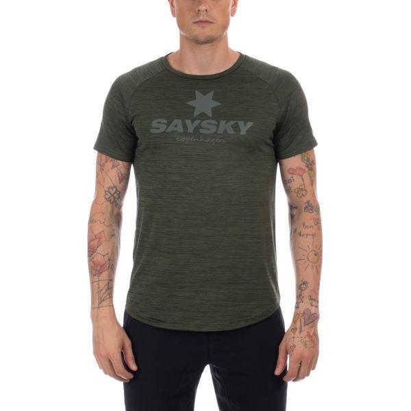 SAYSKY セイスカイ ランニング 半袖Tシャツ CLASSIC ILLUMINATE SS TEE AMRSS4 GREEN MELANGE