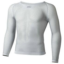 Millet ミレー ドライナミック メッシュ 3/4スリーブ ランニング用 アンダーシャツ MIV01356 グレー