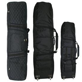 コンフィ ウィーリーボードケース COMFY WHEELIE BOARD CASE Black Black Quilting ローラー付きバッグ スノーボード
