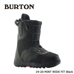 【3/4(木)20時〜エントリーでP最大44倍】バートン ブーツ 19-20 BURTON MINT - WIDE FIT Black ミント ワイドフィット 日本正規品