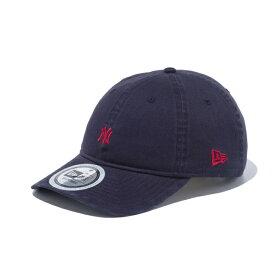 ニューエラ NEW ERA 9THIRTY ウォッシュドコットン ニューヨーク・ヤンキース ミニロゴ 2トーンストラップ ネイビー × ラセット 56.8 - 60.6cm キャップ 帽子 日本正規品