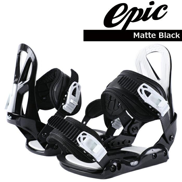 【+P2倍・6/21(木)2時迄】 エピック スノーボード ビンディング 金具 EPIC BINDING Matte Black 【991000】