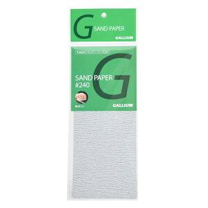 ガリウム GALLIUM サンドペーパー♯240 4枚入 TU0034【GALLIUM税抜5000円以上で送料無料】