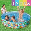 INTEX オーシャンプレースナップセットプール ME-7004(56452NP) インテックス OCEAN PLAY SNAPSET POOL 183×38c...