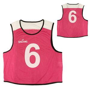 スポルディング SPALDING ビブス 6枚セット 6〜11 PINK バスケットボール