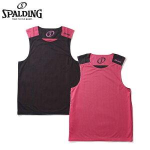 SPALDING リバーシブルノースリーブシャツ PINK(SMT130190) スポルディング チーム バスケットボール ストリート タンクトップ