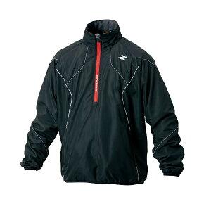 ZETT(ゼット) プロステイタス ウインドブレーカー ジャケット 裏メッシュ 立衿 ハーフジップ 野球ウインドブレーカー BOW171NM-1900(ブラック)