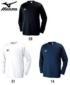 ミズノ ユニセックス ワンポイント長袖 Tシャツ32JA6130 (在庫品即出荷可能)