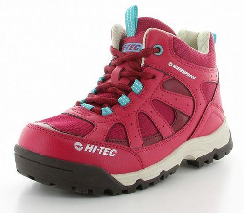 ハイテック ジュニア トレッキングシューズ ライトハイキング HT HKJ07 53120284 ピンク