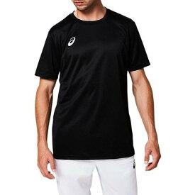 アシックス ワンポイントTシャツ メンズ トレーニング ウェア 半袖 シャツ OPショートスリーブトップ 2031A664-001 パフォーマンスブラック/ブリリアントホワイト