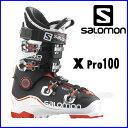 【あす楽対応可】◎2016サロモン スキーブーツ X PRO 100 White/Black/Orange スキー靴【即納OK】 SALOMON エックスプロ ...