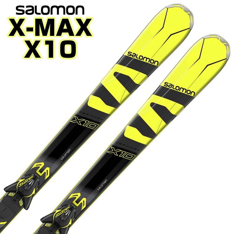 【あす楽対応可】サロモン ロッカースキー X-MAX X10 + M XT12 板+ビンディング 2点セット 155cm 162cm 169cm 【即納OK】SALOMON L39953500 ●17-18