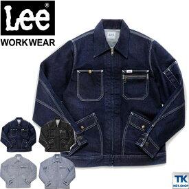 Lee ジップアップ ジャケット レディース ブルゾン Lee WORKWEAR ヒッコリー へリンボン インディゴ リー ZIP-UP JACKET bm-lwb03001