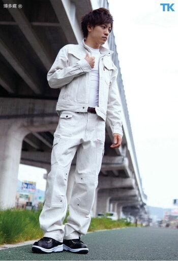 作業服作業着カーゴパンツ作業ズボン博多鳶オリジナルストライプワークパンツht-94-9941s