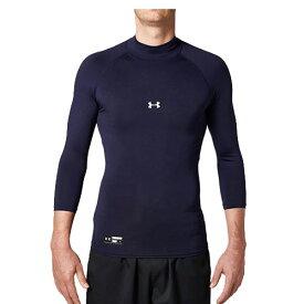 アンダーアーマー アンダーシャツ 七分袖 UAヒートギアアーマーコンプレッション3/4モック 野球 メンズ 1343020 ネイビー