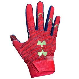 アンダーアーマー Under Armour メンズ アメリカンフットボール レシーバーグローブ 両手用 グローブ Red/Metallic Gold USA 大人 一般