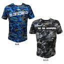 アクティブーム 野球 Tシャツ 半袖シャツ トレーニングTシャツ カモ柄 T.N.G Tシャツ ブルー ブラック 半袖 中学生 高…