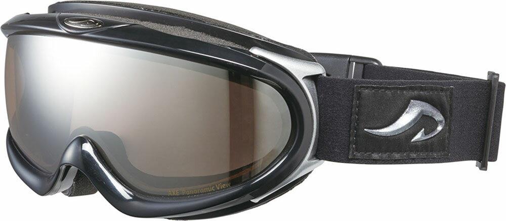 AXE(アックス)スキーゴーグル・サングラス(メンズ) スノーゴーグル UVカットAX888WMDシャイニーブラック