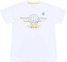 CONVERSE(コンバース)バスケットTシャツミニバス Tシャツ 機能Tシャツ プラクティスウェアCB491301ホワイト/ゴールド