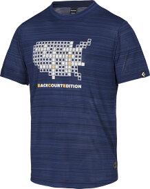 CONVERSE(コンバース)マルチSPTシャツTシャツ(裾ラウンド) BACKCOURT EDITION バックコートエディション メンズ バスケットボールウェアCBE281320ネイビー