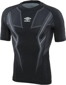 UMBRO(アンブロ)サッカーゲームシャツ・パンツTR ハーフスリーブインナーシャツ byGUUUOJM01ブラック