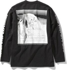 【15日限定P最大10倍】THE NORTH FACE ノースフェイスアウトドアロングスリーブスリーブグラフィックティー メンズ L/S Sleeve Graphic Tee 長袖 Tシャツ 長そで ティーシャツ アウトドアNT32042K
