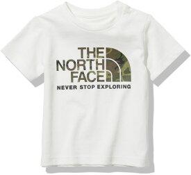 【15日限定P最大10倍】THE NORTH FACE ノースフェイスアウトドアベビーショートスリーブカモロゴティー ベビー B S/S Camo Logo Tee 半袖 Tシャツ お出かけ 散歩 遊び UVケア 子供 子ども 1歳 2歳 NTB32145W