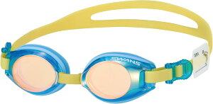 SWANS(スワンズ)水泳水球競技キッズ用 スイミング ゴーグル_ミラータイプSJ9MSBOR