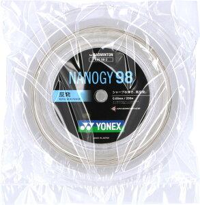 【15日限定P最大10倍】Yonex ヨネックスバドミントンバドミントン用ガット ナノジー98 200mロールNBG982024