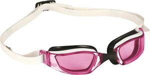 MP(マイケルフェルプス)水泳水球競技スイムゴーグル エクシード ピンクレンズ ホワイト×ブラック138960