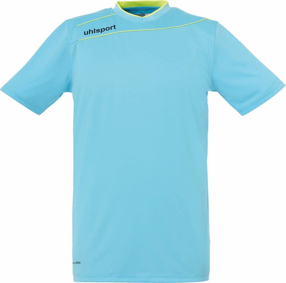 uhlsport(ウールシュポルト)サッカーゲームシャツ・パンツストリーム3.0 GK ショートスリーブ1005704アイスブルー/フローイ