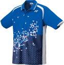 Yonex(ヨネックス)テニスゲームシャツ・パンツ【男女兼用 テニス・バドミントンウェア】 UNIポロシャツ(スタンダードサイズ)10210ブラストブルー