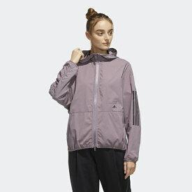 adidas (アディダス) W MHE クロスジャケット レディーススポーツウェア ウインドアップジャケット レディース レガシーパープル GUN88 FM5223