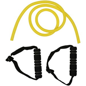 s.a.gear (エスエーギア) エクササイズチューブハンドル付き フィットネス 健康 ハンドヘルド ミディアム イエロー SA-Y19-006-016