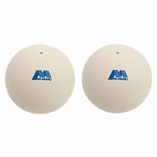 ラケットスポーツ ソフトテニスボール ショーワゴム アカエム 練習球 2個入り ホワイト M40021