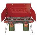 ● 【送料無料】 COLEMAN (コールマン) キャンプ用品 ガスバーナー パワーハウスLPツーバーナーストーブII 2000021950