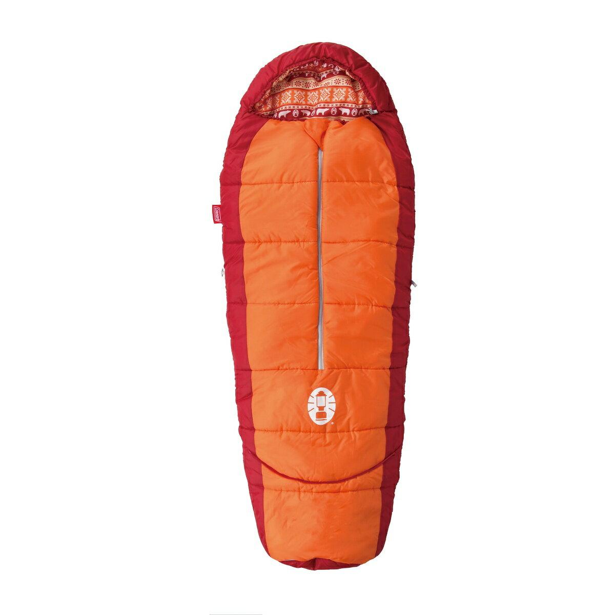 ● COLEMAN (コールマン) キャンプ用品 スリーピングバッグ 寝袋 ジュニア用 キッズマミーアジャスタブル/C4(オレンジ) 2000027271