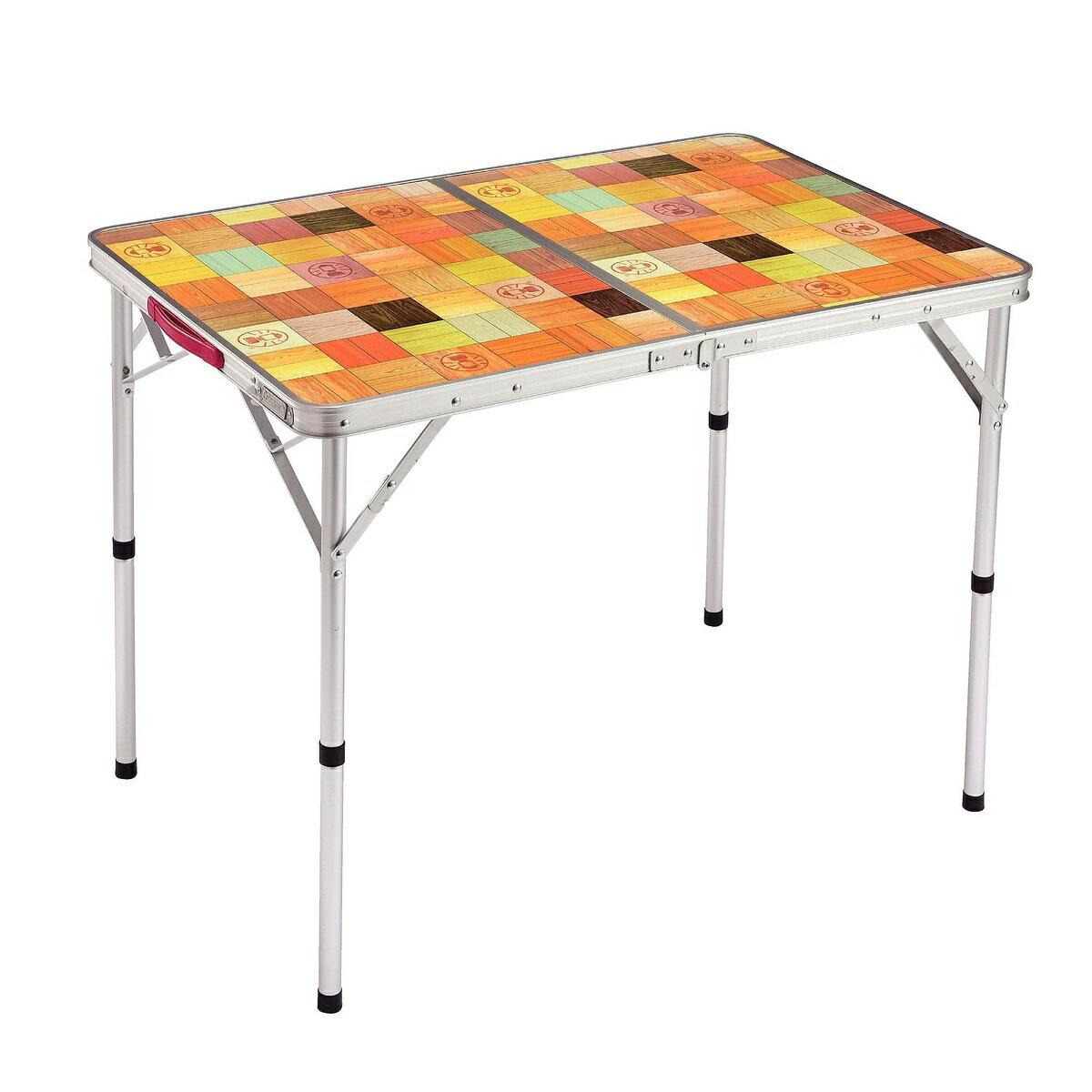 ● COLEMAN (コールマン) キャンプ用品 ファミリーテーブル ナチュラルモザイクリビングテーブル/90プラス 2000026752