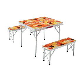 ● コールマン(COLEMAN) ナチュラルモザイク ファミリーリビングセット/ミニプラス キャンプ用品 キッチンテーブル 一体型テーブル 2000026758